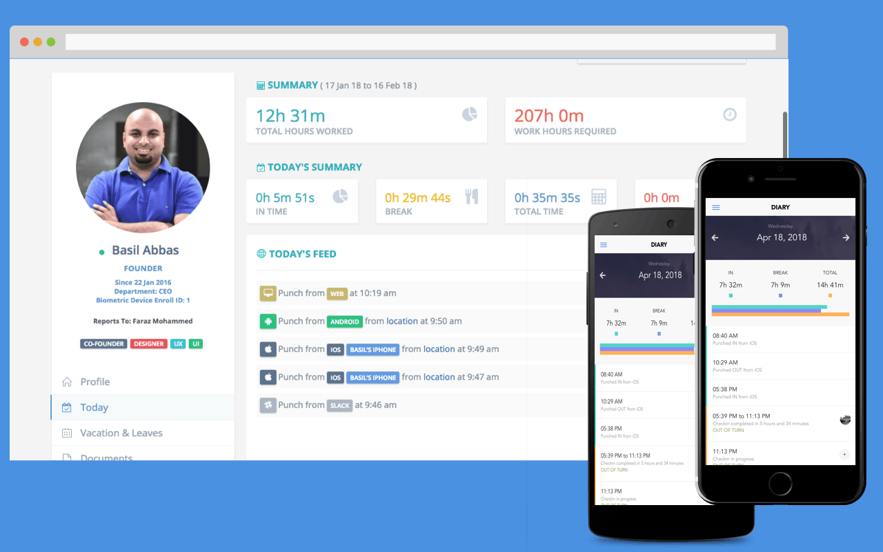 employee attendance tracking mobile app clockit
